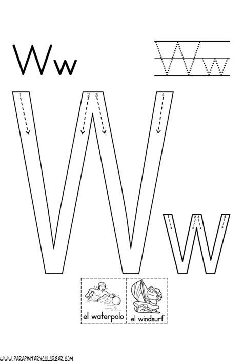 imagenes q inicien con la letra w el abecedario dibujos para colorear ciclo escolar