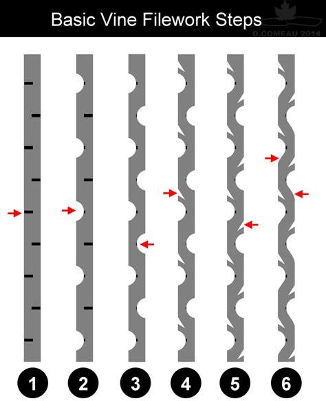pattern making file diy knifemaker s info center basic filework vine