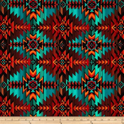 southwestern colors timeless treasures southwest blanket turquoise orange