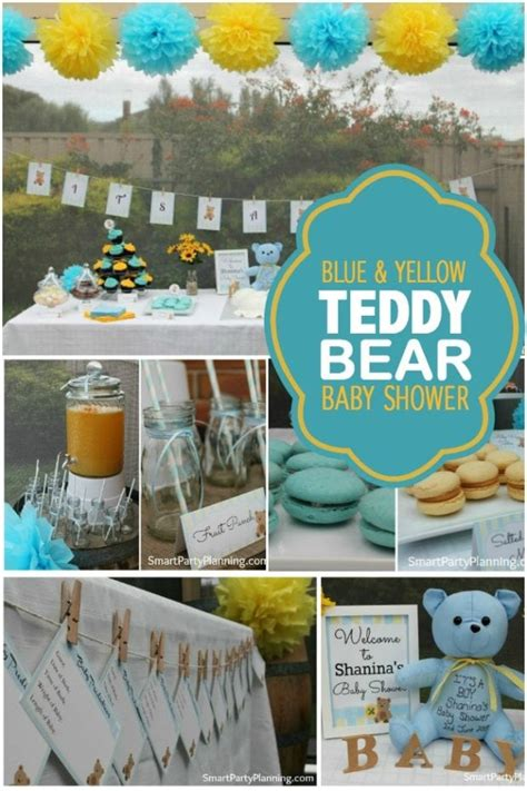baby boy bathroom ideas a blue and yellow teddy baby shower spaceships and laser beams