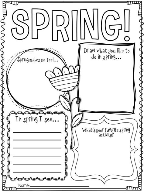spring themed work events hello spring spring writing activities and craft