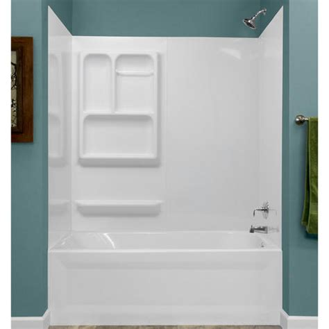 Lyons Bathtub by Lyons Versatile Sectional Bathtub Wall Kit At Menards 174