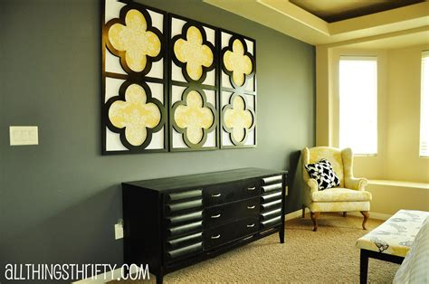 home made wall decor tutorial quatrefoil diy decorative wall art