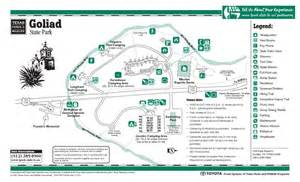 goliad state park facility and trail map goliad