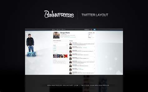 twitter layout preview twitter layout sergio razta by brainnfreeze on deviantart