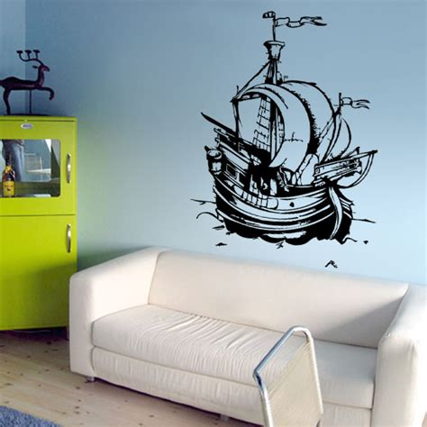 wandtattoo kinderzimmer piratenschiff wandtattoos kinderzimmer kinder piraten schiff nr 2