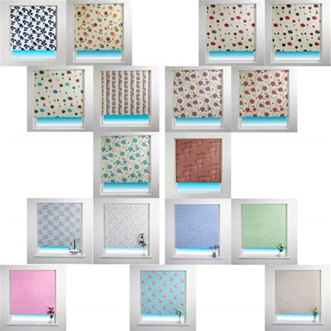 fabric pattern roller shades sunlover patterned thermal blackout roller blind ebay