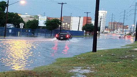 heb texas backyard torrential rain creates flooding in south texas