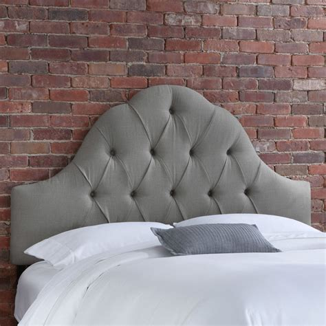 Tufted Headboard Shapes by How Comfortable Grey Tufted Headboard Design Ideas