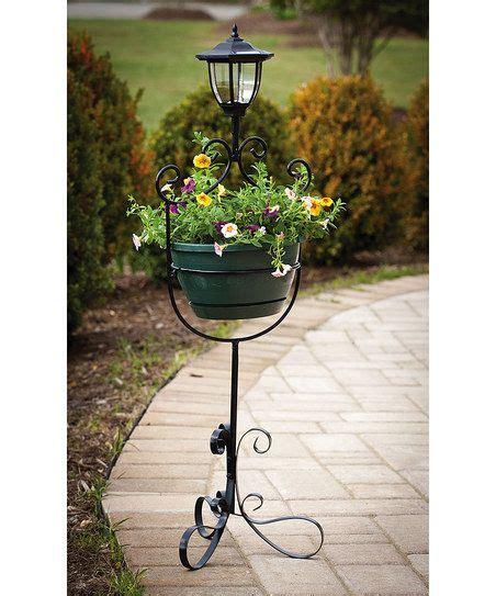 Solar Light Planter by Black Solar Light Planter