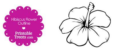 hawaiian themed invitations printable hibiscus flower outline