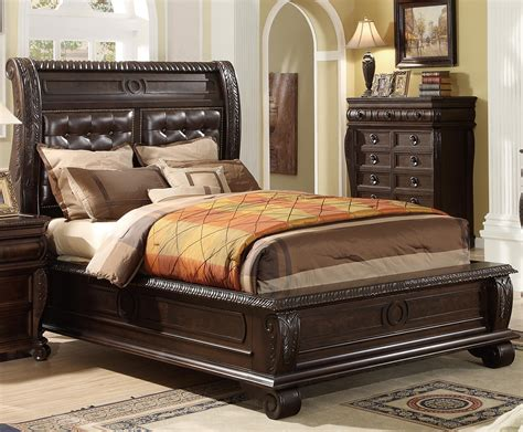 king panel bed  upholstered headboard miskelly
