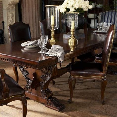 Ralph Lauren Dining Room by Cannes Trestle Dining Table Dining Tables Furniture