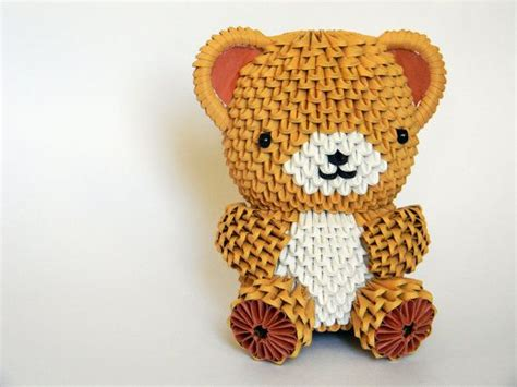 3d origami teddy bear tutorial cute animal origami pinterest origami 3d origami and 3d