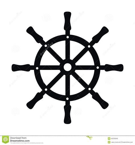 gouvernail de direction noir illustration de vecteur