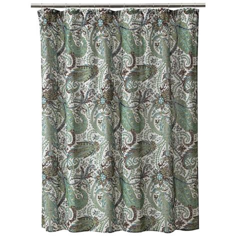target brown curtains threshold shower curtain paisley blue brown target