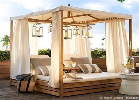japanische deko für den garten terrasse idee lounge