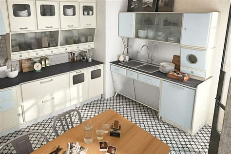 retro style kitchen cabinets the modern kitchen in retro style can designed be fresh