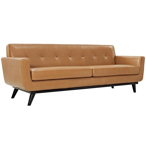 leather couch tan empire tan leather sofa modern sofas eurway furniture