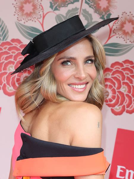 elsa pataky emirates marquee melbourne cup november 2016 elsa pataky decorative hat fashion lookbook stylebistro