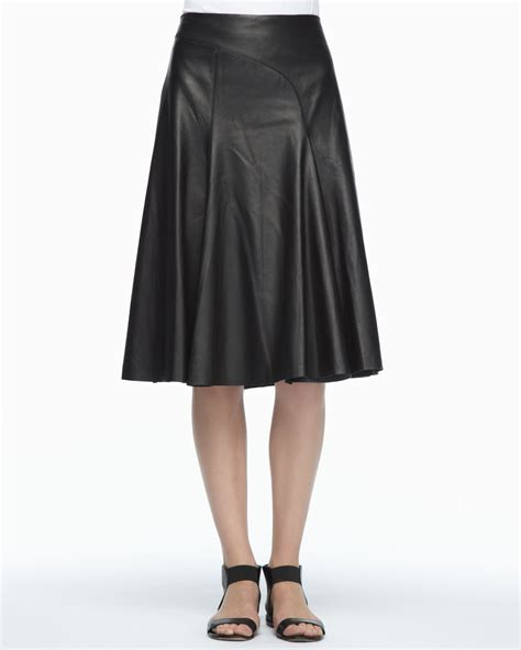 robert rodriguez black aline leather skirt lyst