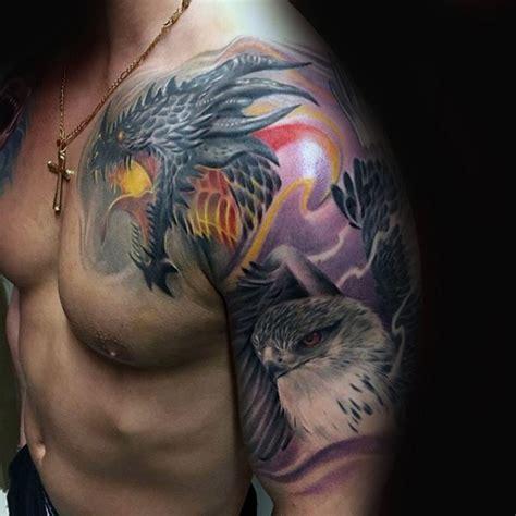nettes detailliertes farbiges fantastisches drachen tattoo