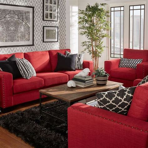 rooms with red couches resultado de imagen de black feature wall living room grey