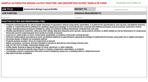 Layout Drafter Job Description | ft dsd receiver job descriptions