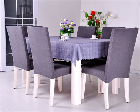 Slipcovers For Dining Room Chairs Dining Room Jacquard Proof Poyester Spandex Fabric Chair Covers Anti Mite Antifouling Chair