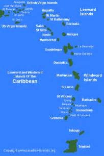 map of america and caribbean islands map of caribbean islands