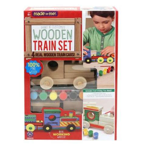made by me paint your own wooden set craft kit 59699