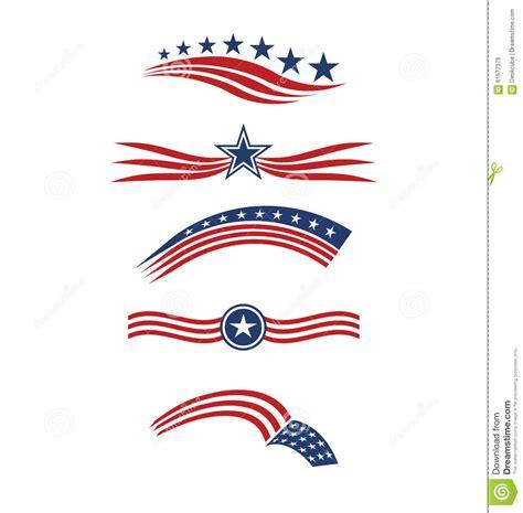 design logo usa star with usa flag icon cartoon vector cartoondealer com
