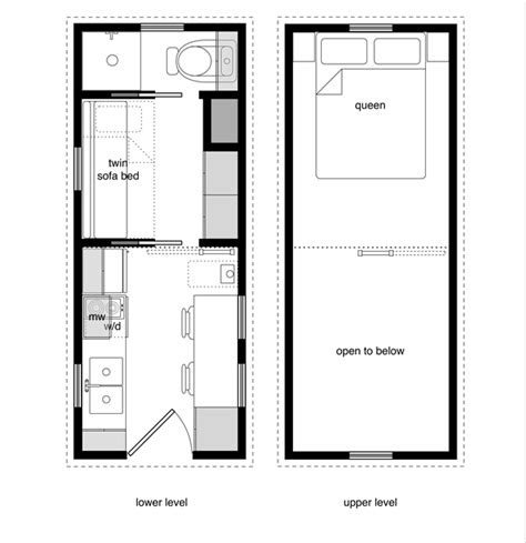 Floor Plans Tiny House Design 8 X 20 House Plans
