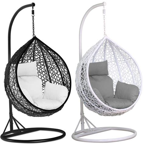 swing egg chair rattan swing patio garden weave hanging egg chair w