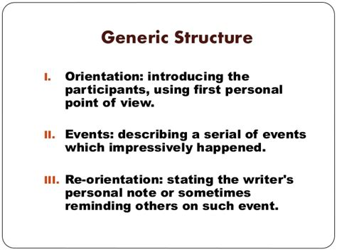 biography recount generic structure recount text presentation on ict program