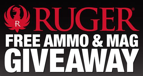 Ruger Giveaway - ruger launches free ammo and mag giveaway