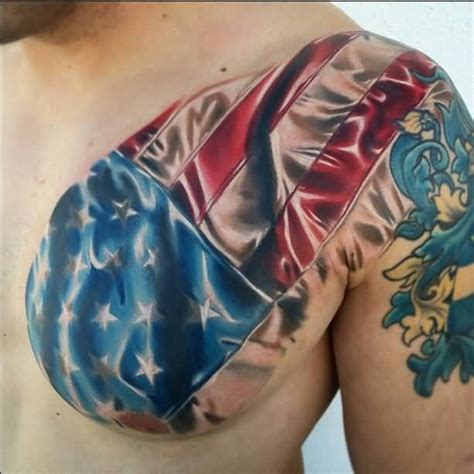 chest tattoo cover up clothing men chest cover up with awesome army flag tattoo photos