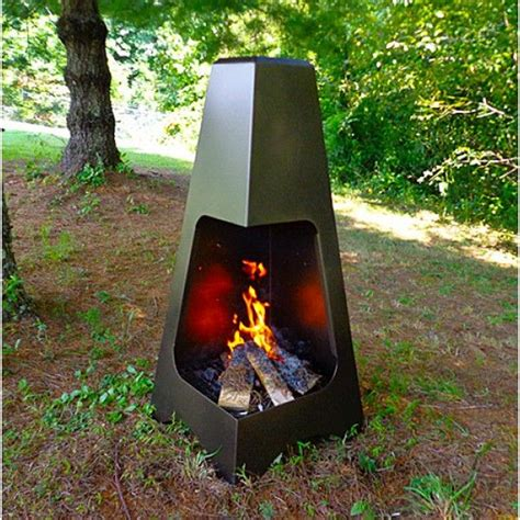 Wood To Burn In Chiminea Outdoor Steel Chiminea 20 Quot X 45 Quot In Bronze Finish