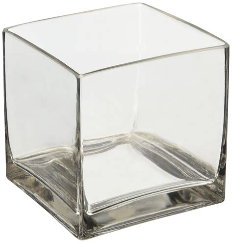 Cube Vases by 6 Quot Square Glass Vase 6 Inch Clear Cube Centerpiece 6x6x6 Candleholder Ebay