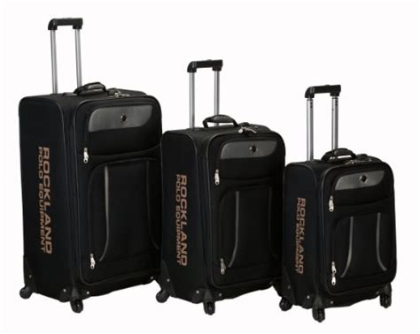 Spinner Polos Packing rockland luggage navigator spinner polo equipment 3 luggage set all travel bag