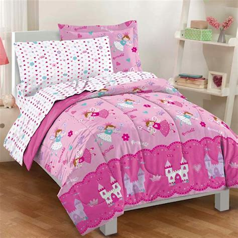 girls twin bed in a bag pink magical princess fairy bedding for little girls twin