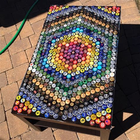 Bottle Cap Pong Table by Cap Table Arts Crafts Mesas Caves