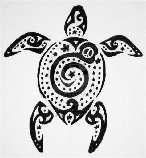 peace tribal tattoos spiral tribal turtle design