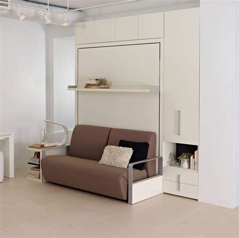 Wall Beds With Sofa The Ito Is A Self Standing Size Wall Bed System This Space Saving Bed Features A