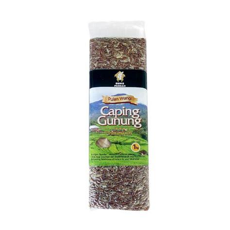 jual caping gunung pulen wangi beras merah black label 1 kg harga kualitas