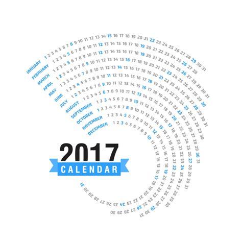 2017 calendar design vector free