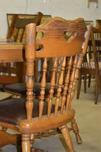 vintage oak table amp 4 chairs by dinaire furniture ny the