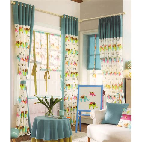 Elephant Curtains For Nursery Printed Elephant Pattern Nursery Curtain 2016 New Arrival