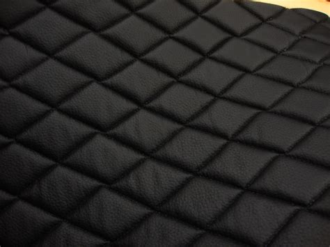 14 yards black quilted vinyl fabric with 3 8 foam