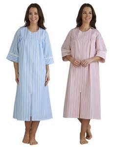 slenderella seersucker stripe dressing gown ladies